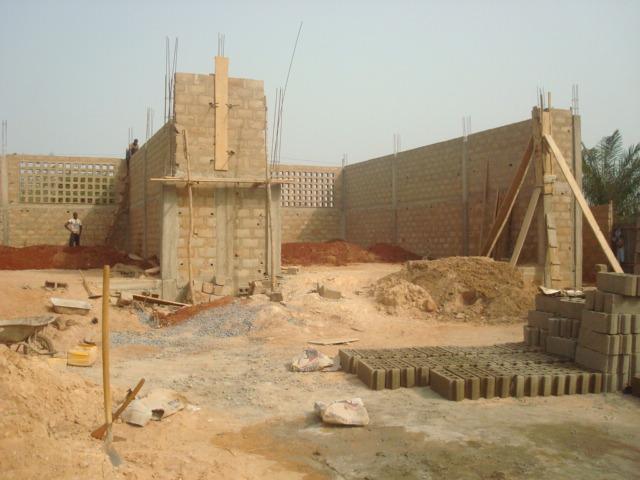 Bau der Werkstätte 2