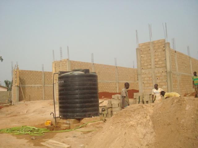 Bau der Werkstätte 1