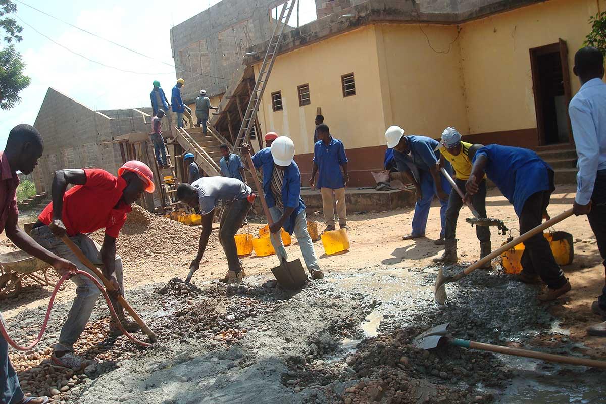Bau des Ladens