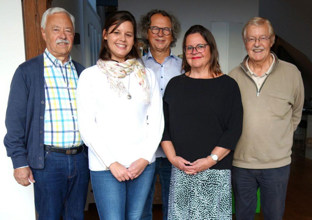 Der neue Vorstand v.l.: Dr. Karl Schimmel (2. Stellvertreter), Julia Wollensak (Kasiererin), Wolfgang Keil (Vorsitzender), Elfriede Lerner (Schriftführerin), Bernd Tödte (1. Stellvertreter)